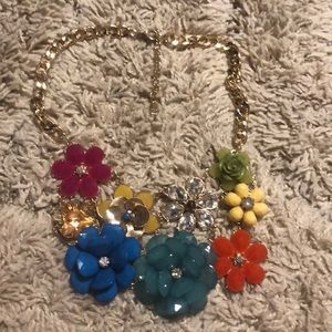 INC flower statement necklace